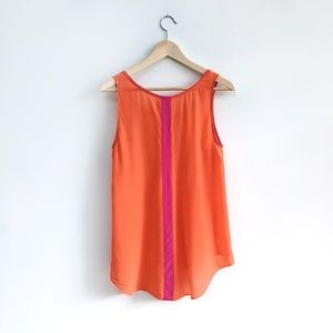 Maeve Piped Silk Tank - size 8